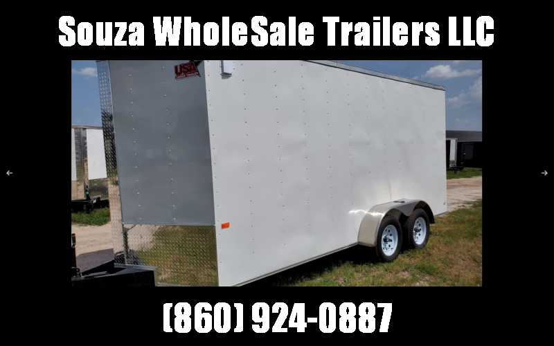 2021 Rock Solid Cargo 7 x 16 TA Enclosed Cargo Trailer