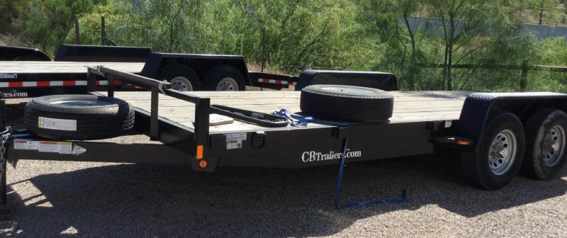 2019 C and B Quality Trailer Works CT-18-6TA Flatbed Trailer