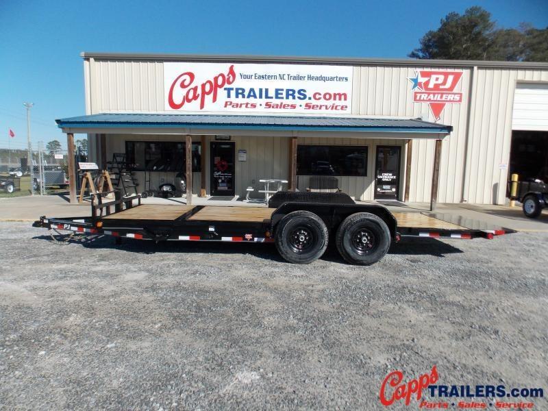2021 PJ Trailers T6J2072BTTKM Vehicle Tilt Deck
