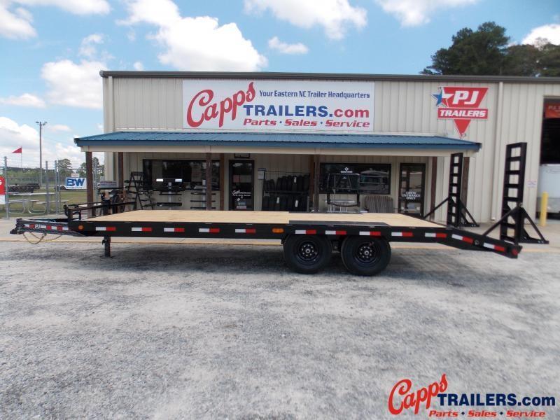 2021 PJ Trailers PJ F8J2272BSBKMR 14K Flatbed Trailer