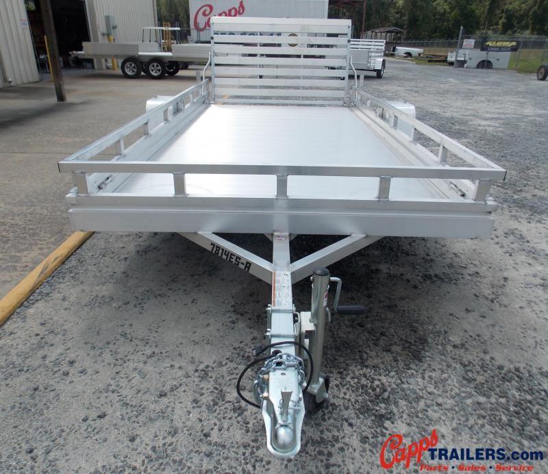 2021 Aluma AL 7814ESA-S-TG-LADDER RACK Utility Trailer