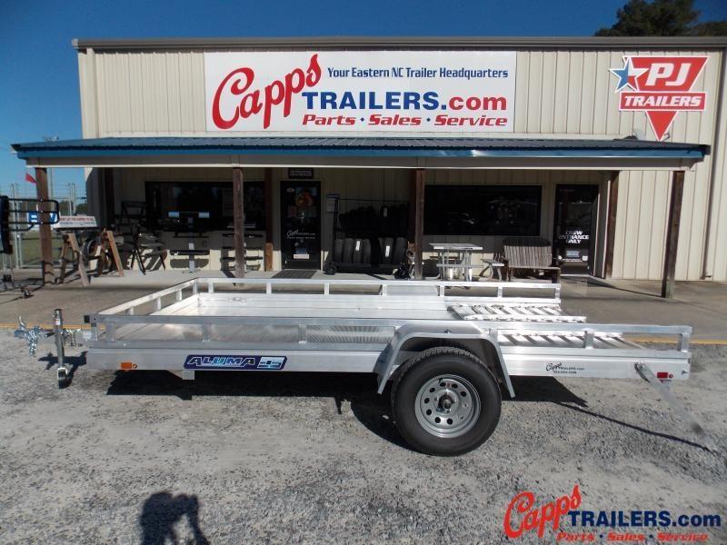 2021 Aluma 7812ESA-S-TG-LADDER RACK Utility Trailer