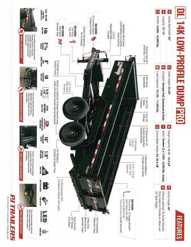2021 PJ Trailers PJ DLA1272BSSK Dump Trailer