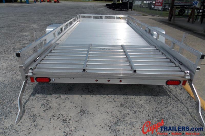 Aluma AL 7814ESA-S-TG-LADDER RACK Utility Trailer