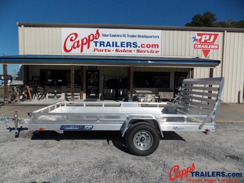 2021 Aluma 7812ESA-S-TG-LADDER RACK Utility Trailer