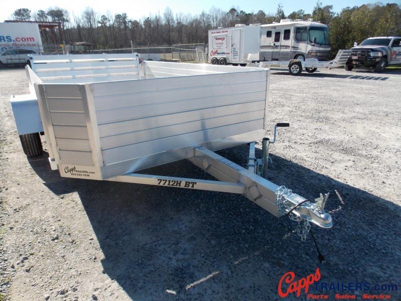 "Aluma AL 7712H-S-BT 24"" Sides Utility Trailer"