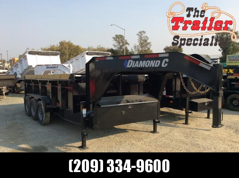 NEW 2021 Diamond C Trailers 7x16 24K GVWR LPT307 Dump Trailer