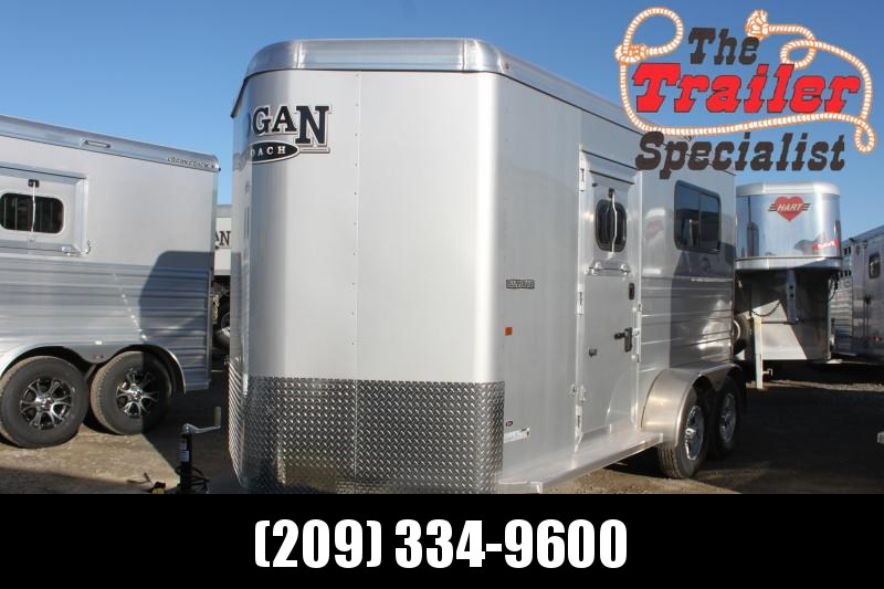 NEW 2021 Logan Coach 2H Bullseye Straightload BP Horse Trailer