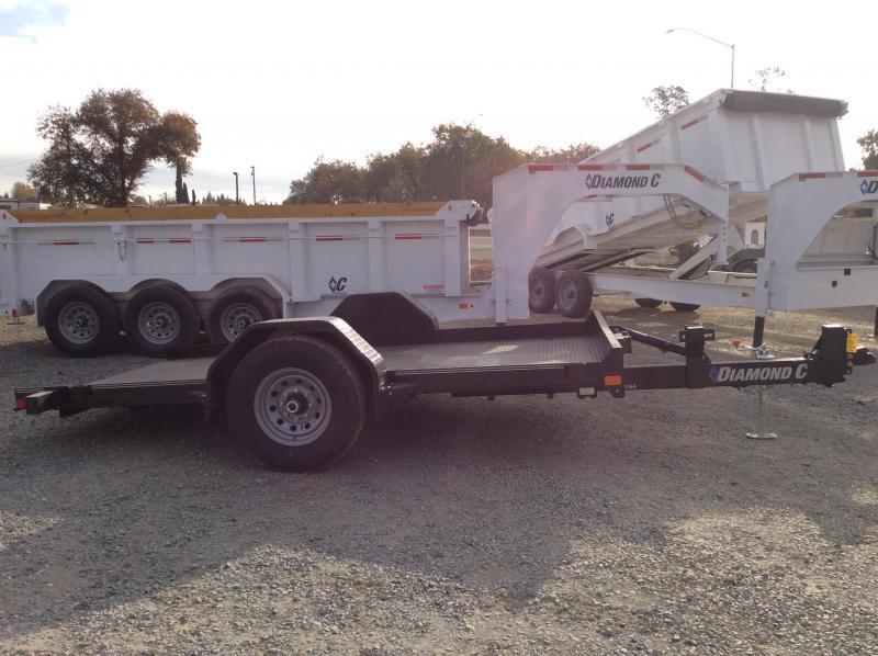 "NEW 2021 Diamond C Trailers DSA107-L 12'X77"" 7000 GVWR Equipment Trailer"