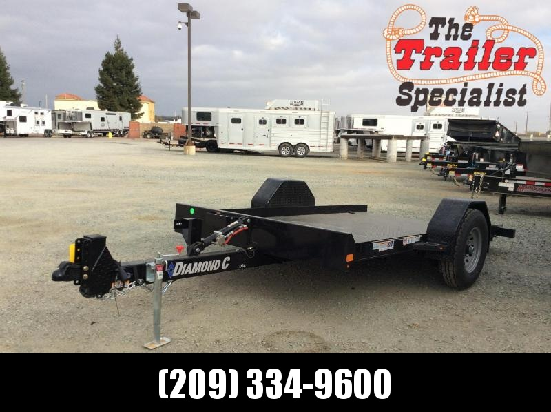"NEW 2021 Diamond C Trailers DSA107-L 12'X77"" 7000 GVWR Equipment Trailer"