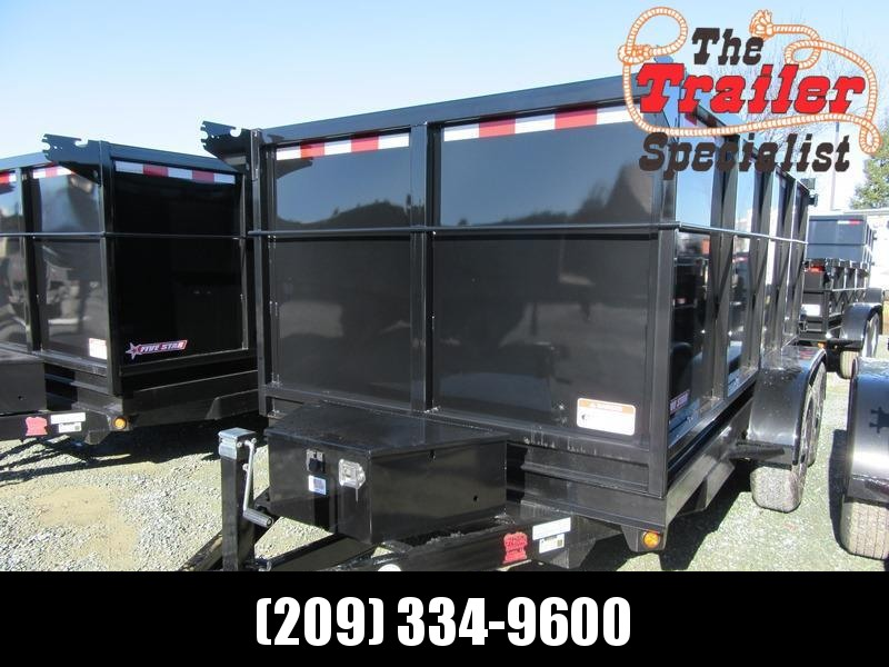 New 2021 Five Star DT262 6x12 10k Dump Trailer 4' sides