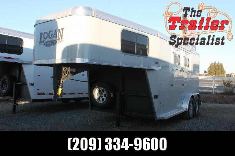 NEW 2021 Logan Coach Riot 2H GN Horse Trailer