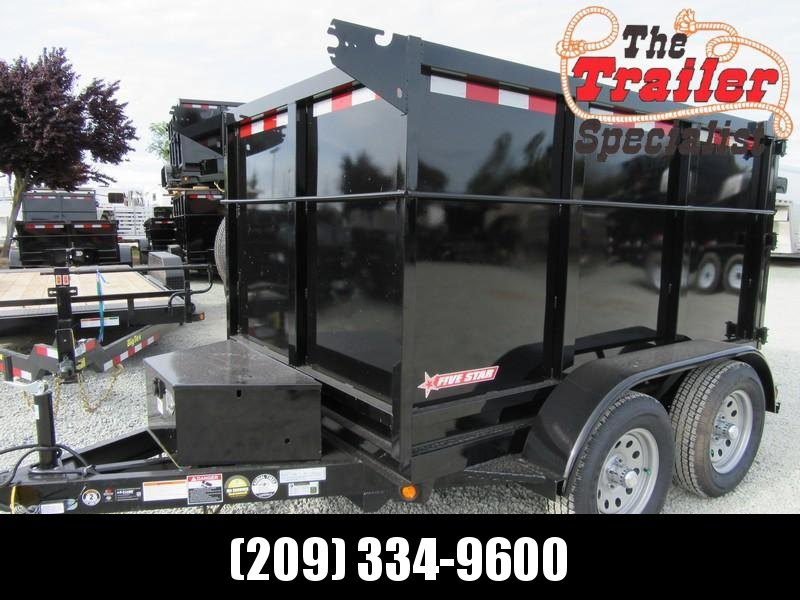 New Five Star DT290 4' sides 5' x 8' 7k GVW Dump Trailer