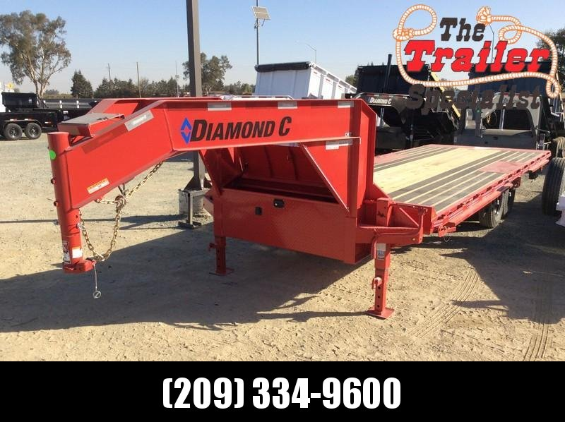 NEW 2021 Diamond C Trailers 24ft x 102 14.9k GVWR GN Hydraulic Tilt DET207 Equipment Trailer