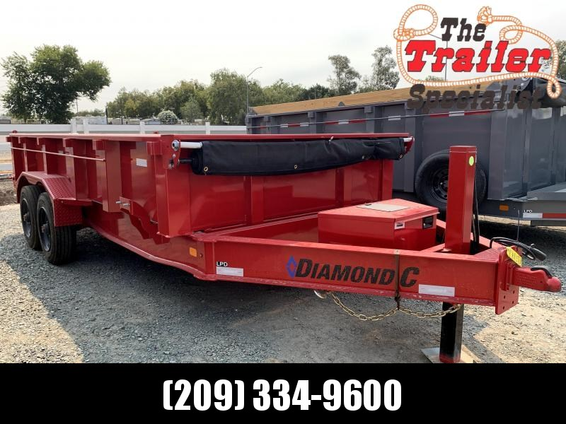 "NEW 2021 Diamond C Trailers LPD210L 82"" x 16' 20k GVW Dump Trailer"