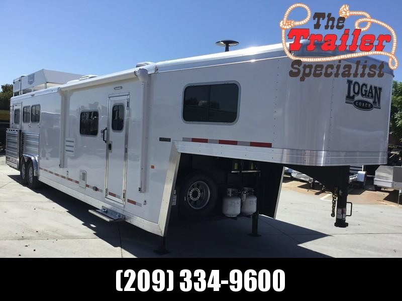 NEW 2019 Logan Coach 14ft Short Wall 3H Limited Side Load Horse Trailer