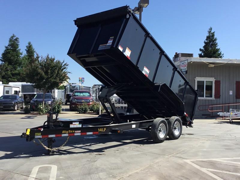 New 2020 Big Tex 14LP-16-6SIR-P4 7x16 4' Sides 14K Low profile Dump Trailer