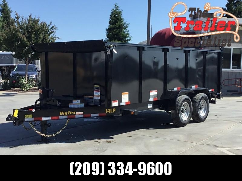 New 2020 Big Tex 14LP-16-6SIR-P4 7x16 4' Sides 14K Low profile Dump Trailer