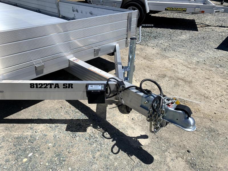 "NEW 2022 Aluma 8122TA-EL-R-BT-SR 81"" x 22'  7000k GVW Utility Trailer"