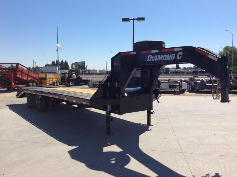 "NEW 2020 Diamond C Trailers FMAX212 Goseneck L25 x 102"" Equipment Trailer"
