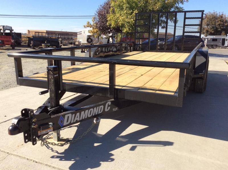 "NEW 2021 Diamond C Trailers TUT252 16'X82"" 9890 GVWR Utility Trailer"