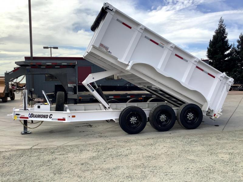 NEW 2021 Diamond C Trailers LPD307L 7' x 14' 24k Dump Trailer