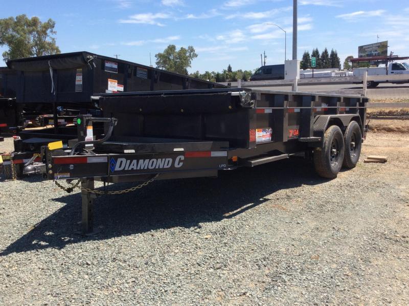 NEW 2020 Diamond C Trailers low pro 7x14 7 gauge floor LPD207L Dump Trailer