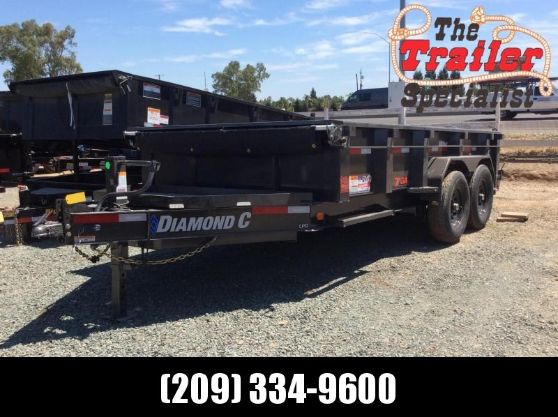 NEW 2020 Diamond C Trailers low pro 7x14 7 gauge floor LPD207L Dump Trailer