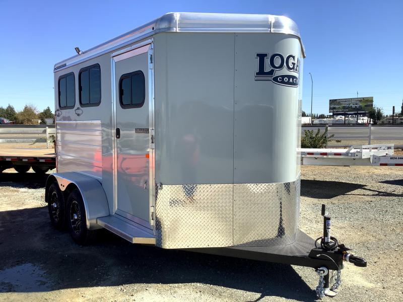 NEW 2022 Logan Coach 2H Bullseye Bumper Pull Horse Trailer