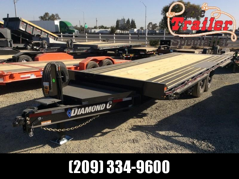 NEW 2021 Diamond C Trailers 22ft x 102 14.9k GVWR BP Hydraulic Tilt DET207 Equipment Trailer
