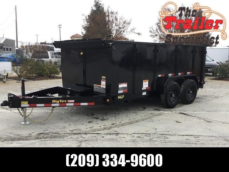 New 2021 Big Tex 14LP-14P4 7' x 14' 14K Low profile Dump Trailer