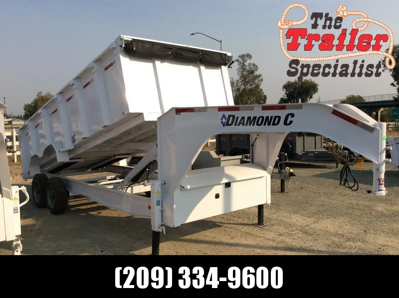 NEW 2021 Diamond C Trailers 7x18 20K GVWR LPD210 Dump Trailer