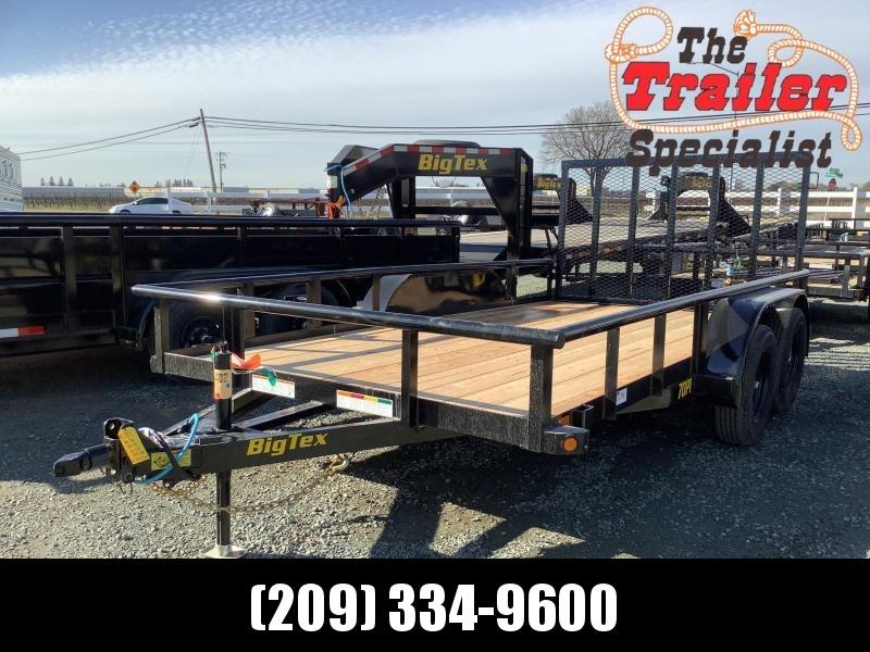 """NEW 2021 Big Tex Trailers 70PI-14 83"""" x 14' 7k GVW Utility Trailer"""