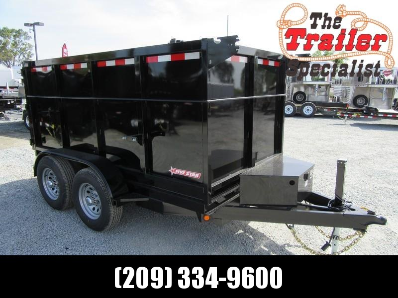 New 2021 Five Star DT256 D10 5x10 4' sides 10K Dump Trailer