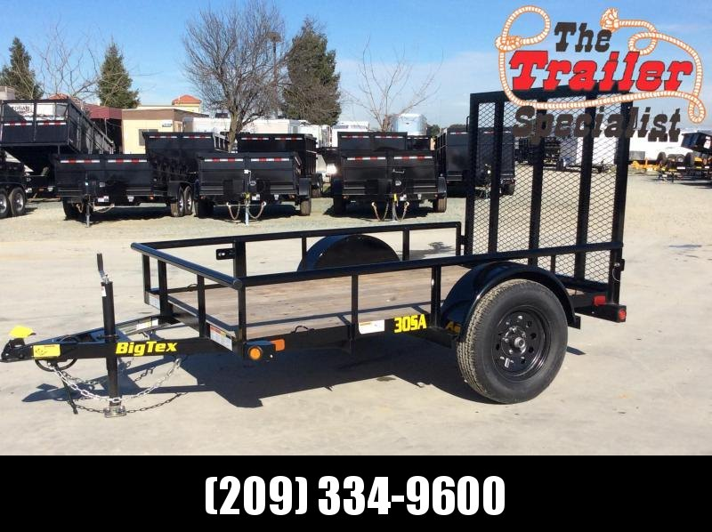 New 2022 Big Tex 30SA-08 5' X 8' 2995 GVWR Utility Trailer