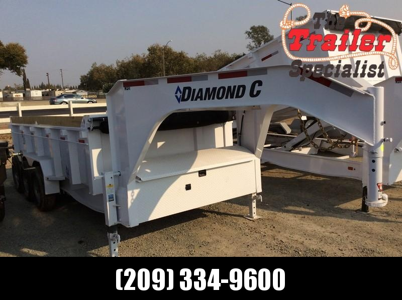 NEW 2021 Diamond C Trailers 7x16 24K GVWR LPD307 Dump Trailer