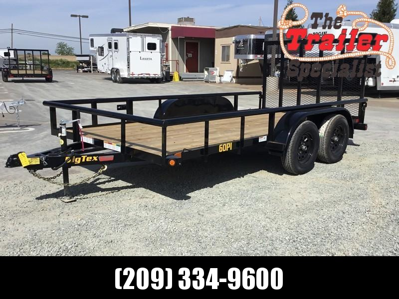 New 2021 Big Tex 60PI-14 6.5' x 14' 6000 GVW Utility Trailer