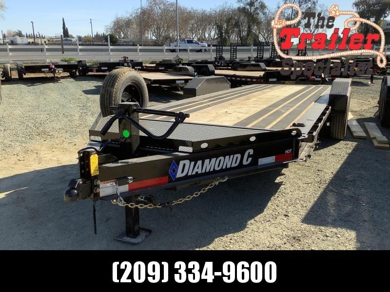 "NEW 2021 Diamond C Trailers 14900 GVWR HDT207L 20ft x 82"" Low Pro Tilt Equipment Trailer"