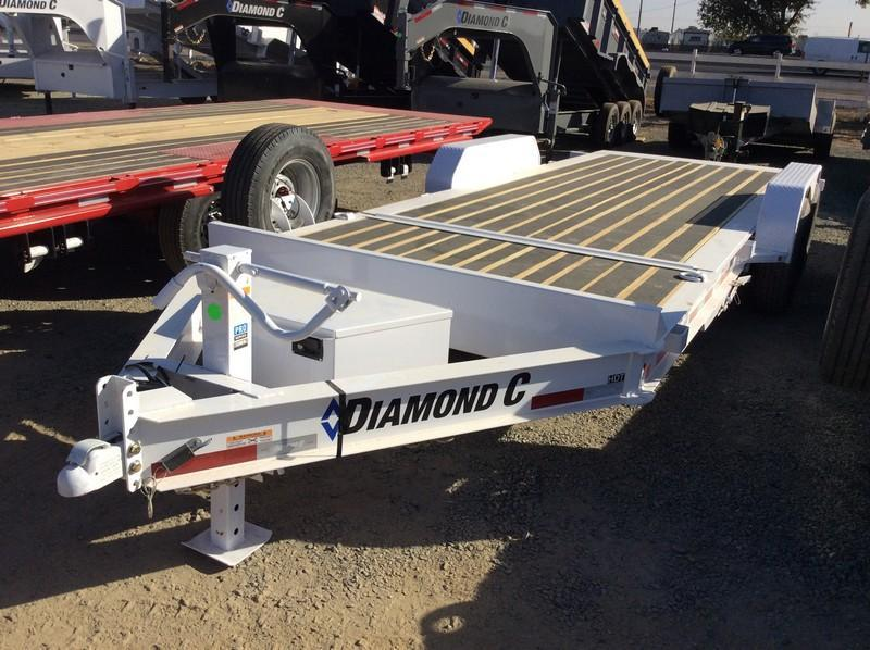 "NEW 2020 Diamond C Trailers 14.9K GVWR HDT207 L20ft x 82"" Low Pro Tilt Equipment Trailer"
