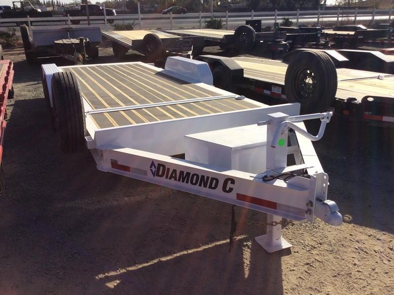 """NEW 2020 Diamond C Trailers 14.9K GVWR HDT207 L20ft x 82"""" Low Pro Tilt Equipment Trailer"""