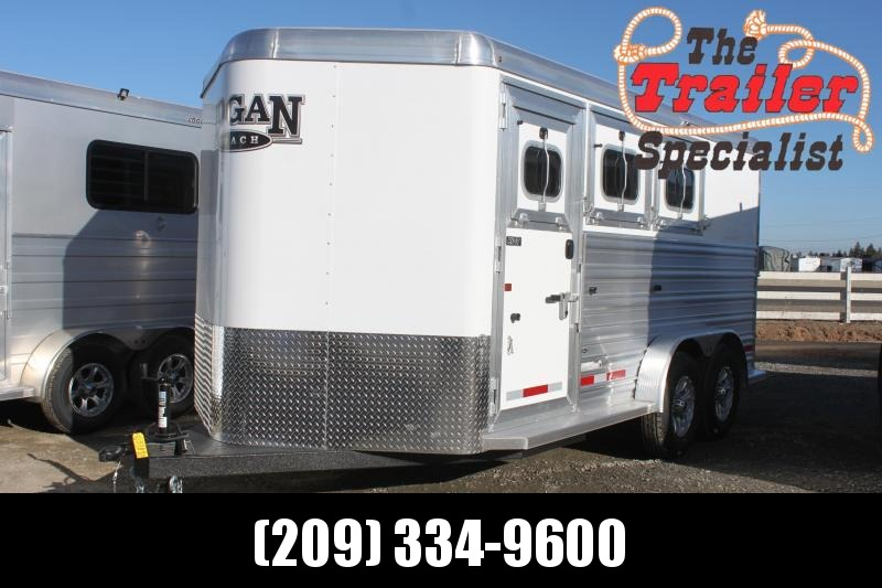 NEW 2021 Logan Coach 3H Riot BP Horse Trailer