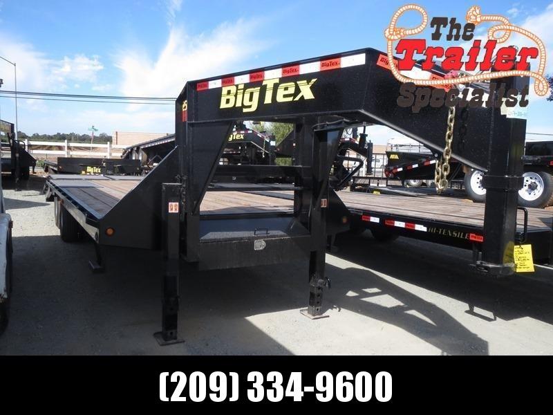 New 2021 Big Tex 25GN-20+5MR 25K GVW 25' Flatbed Trailer