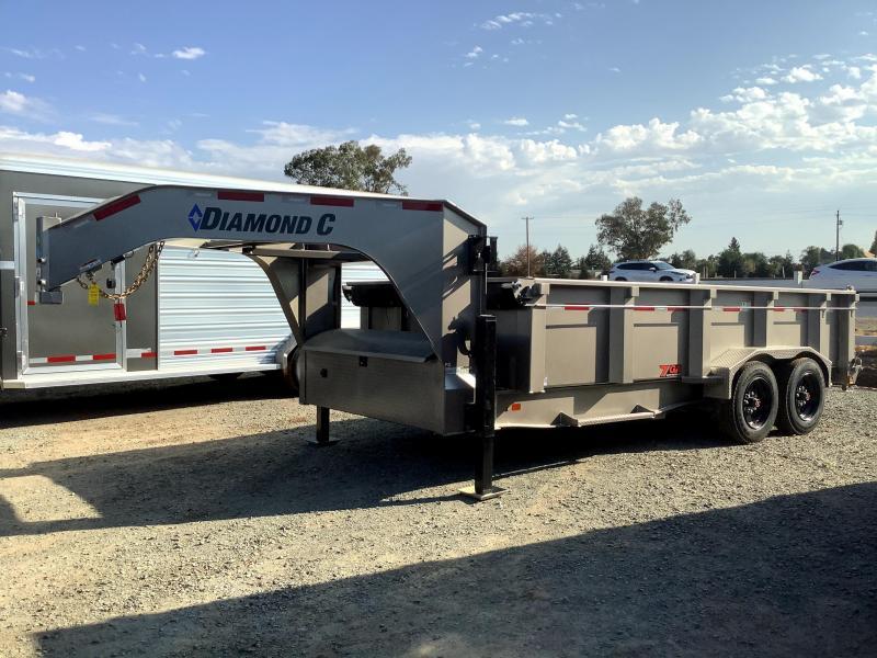 NEW 2021 Diamond C Trailers LPD208L 7' x 16' 18k GVW Dump Trailer *DELIVERY DAMAGE*