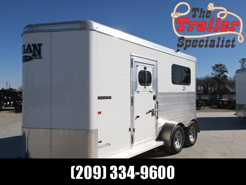 NEW 2021 Logan Coach Bullseye Straightload 2 Horse Horse Trailer