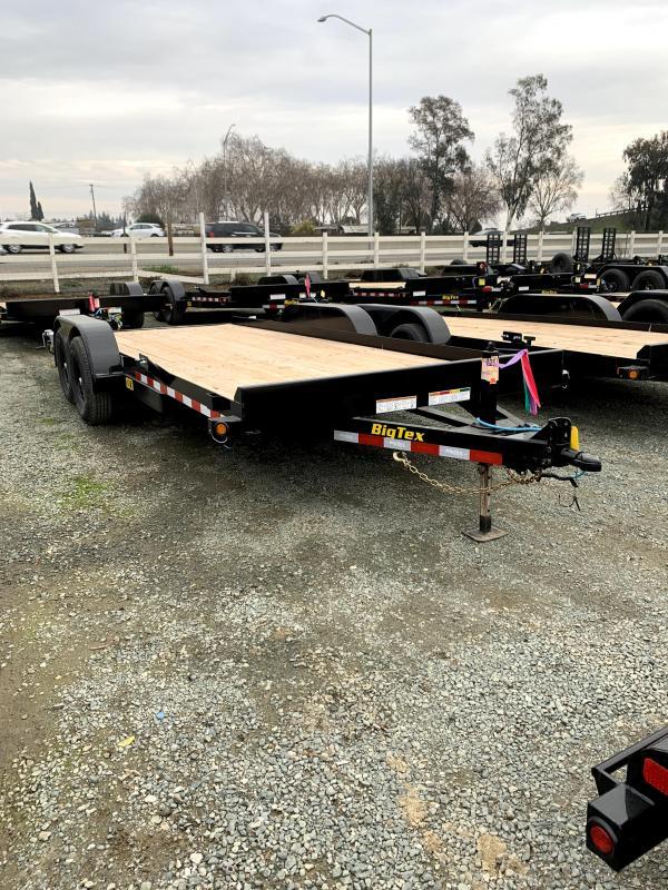 """2021 Big Tex Trailers 10CH-18 83"""" x 18' 9990 GVW Car / Racing Trailer"""