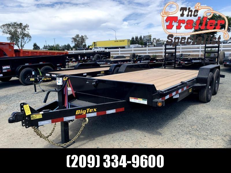 NEW 2019 Big Tex 14ET-18KR (Knee Ramps) 7' x 18' 14k GVW Equipment Trailer