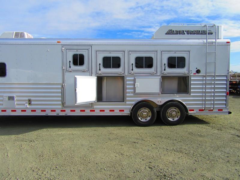 New 2018 Elite Mustang 4H LQ Horse Trailer Vin 17534