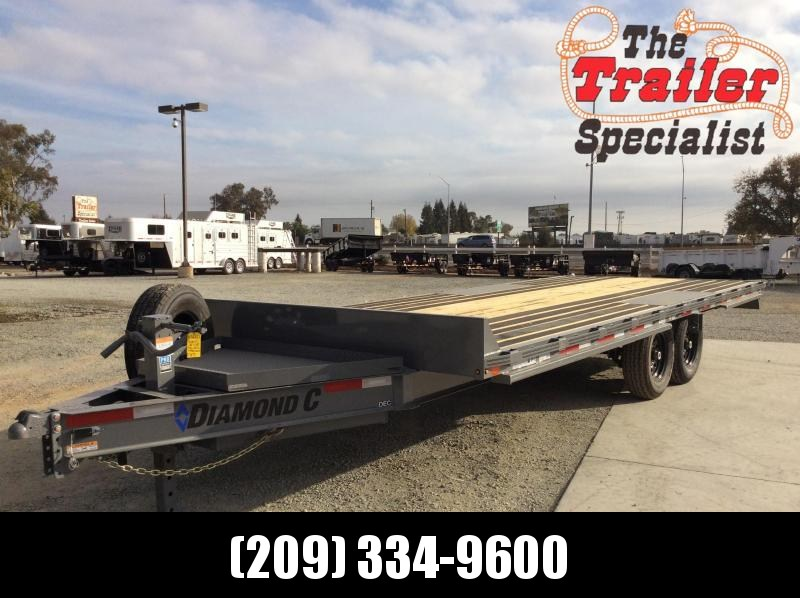 "NEW 2021 Diamond C Trailers DEC207-L 20'x102"" 14900 GVWR Equipment Trailer"