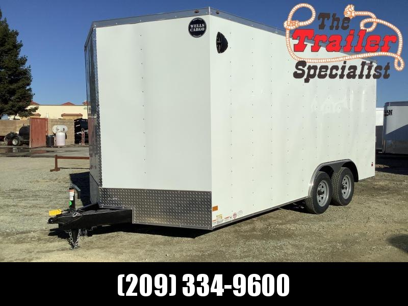 NEW 2021 Wells Cargo Fastrac 8.5' x 16' 2990 GVW Enclosed Cargo Trailer