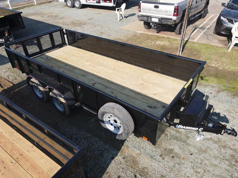 NEW 2021 Diamond C Trailers GTU235-L 16' X 83' 7k GVW Utility Trailer